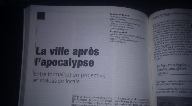 [Article] Strasbourg après l'apocalypse : entre formalisation projective et réalisation locale